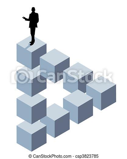cube, tridimensionnel - csp3823785