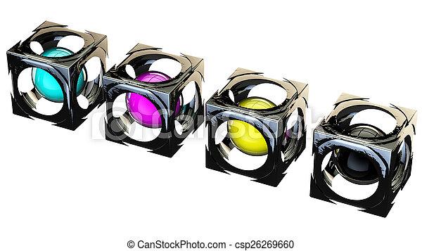 cubes cmyk - csp26269660