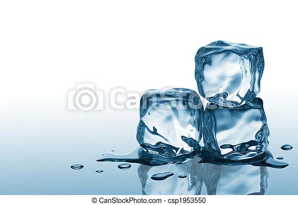 cubes, trois, glace - csp1953550