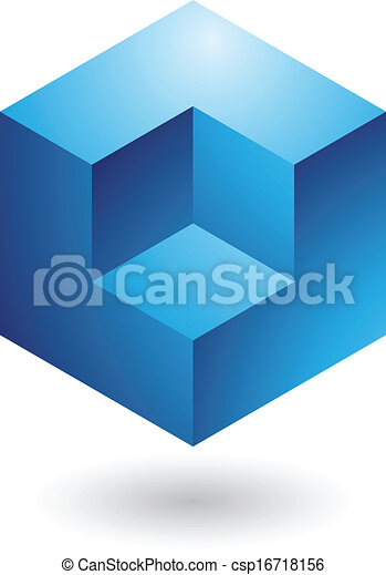 Cubical Abstract Icon - csp16718156