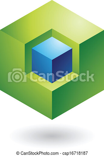 Cubical Abstract Icon - csp16718187
