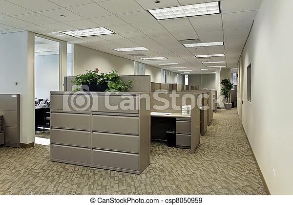 cubicles, úřadovna dělat mezery - csp8050959