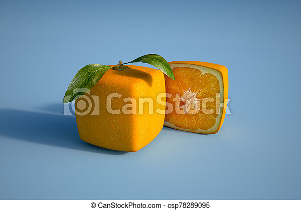cubico, arancia, blu - csp78289095