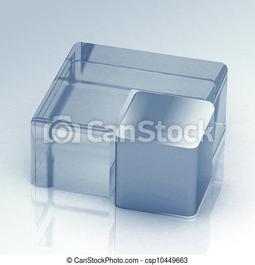 cubique, tarte, tridimensionnel - csp10449663
