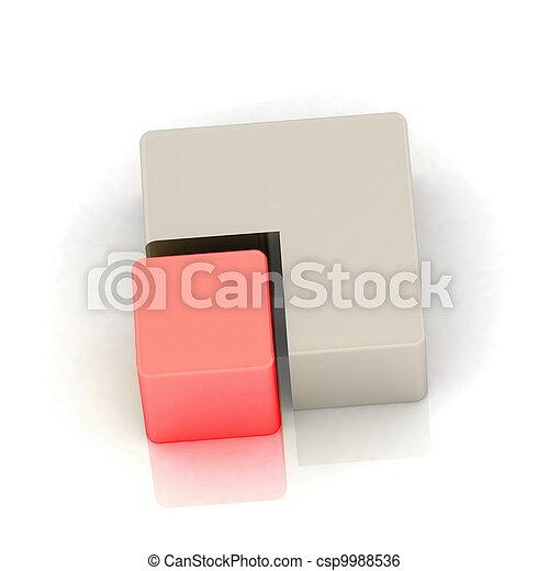 cubique, tarte, tridimensionnel - csp9988536