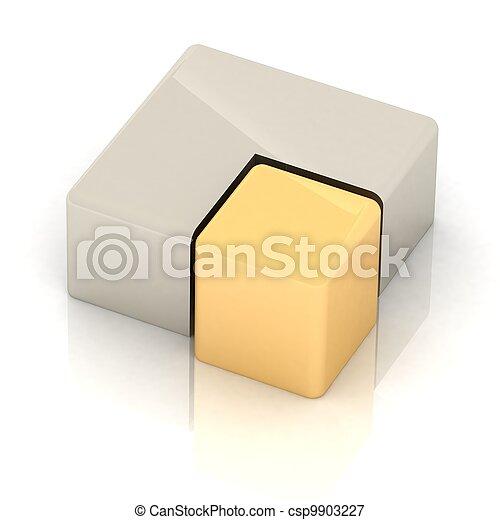 cubique, tarte, tridimensionnel - csp9903227