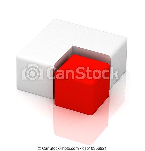 cubique, tarte, tridimensionnel - csp10356921