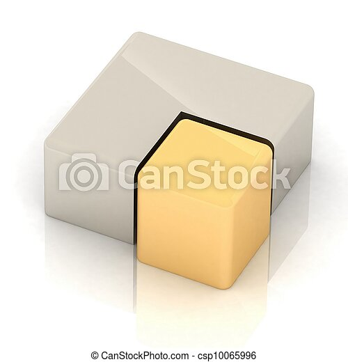 cubique, tarte, tridimensionnel - csp10065996