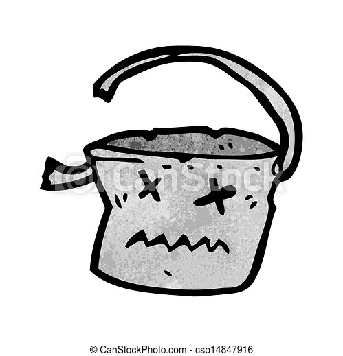 Un balde muerto - csp14847916