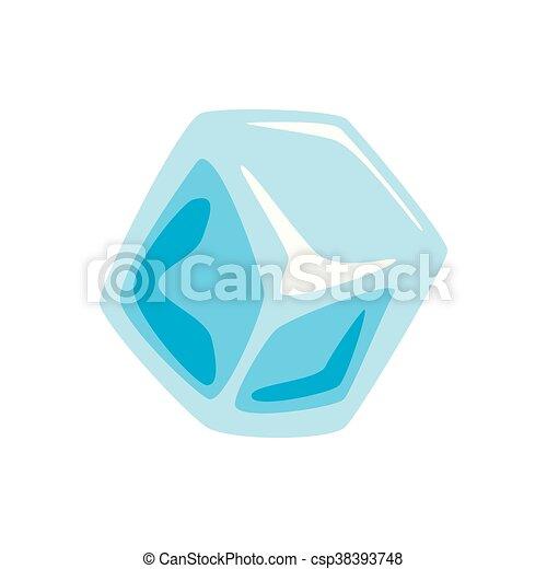 Cubo Grafico Gelo Vetorial Icon Design Apartamento