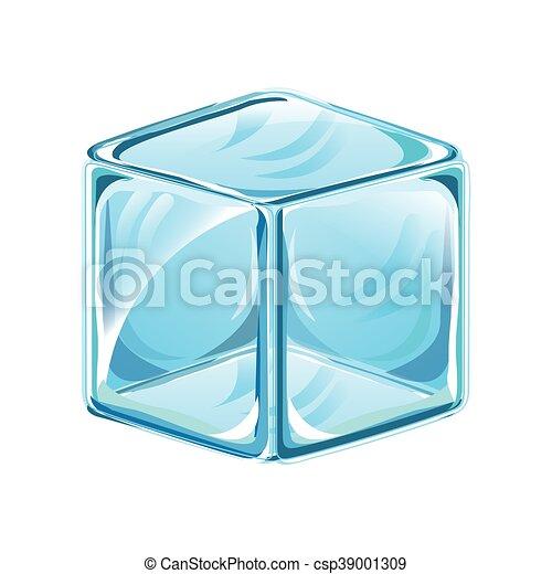 Cubo Isolado Gelo Icone Cubo Isolado Ilustracao Vetorial