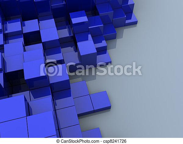 cubos, fundo - csp8241726