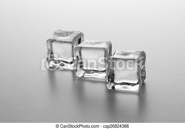 cubos, gelo, fila - csp26824386