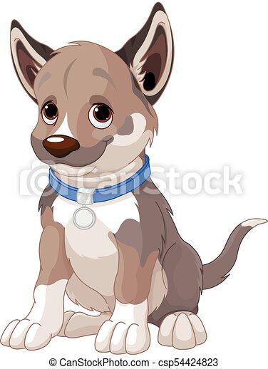 cucciolo, cane - csp54424823