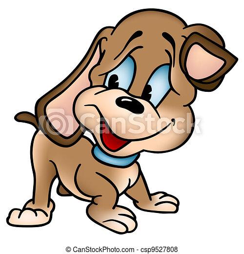 Cucciolo Cane Colorato Illustrazione Cane Vettore Cucciolo