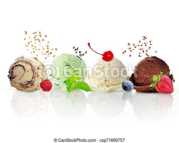 Bolas de helado - csp71689757