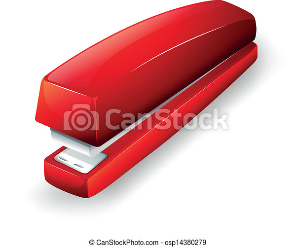 cucitrice, rosso - csp14380279