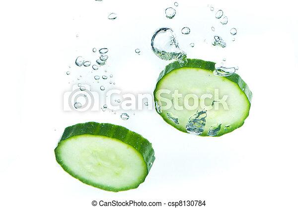 cucumber in water - csp8130784
