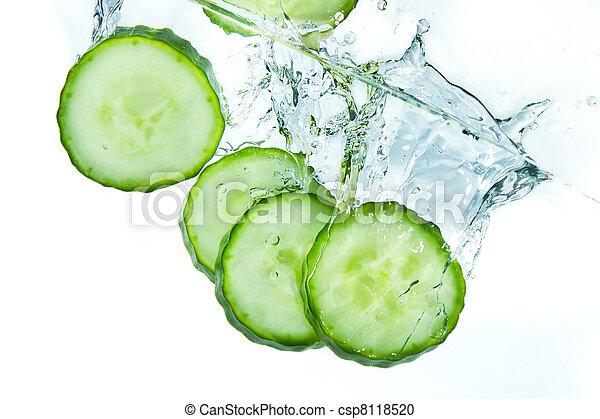 cucumber in water - csp8118520
