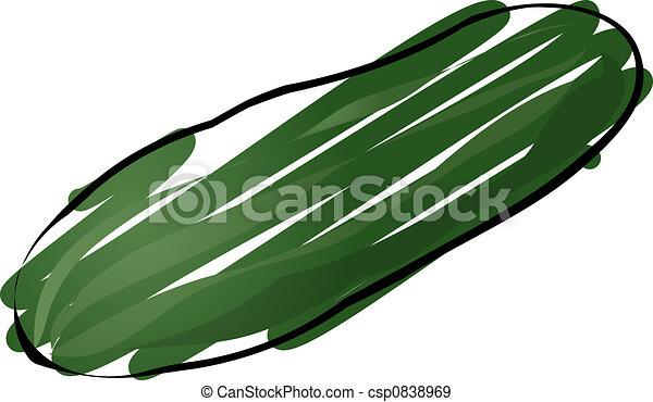 Cucumber sketch - csp0838969