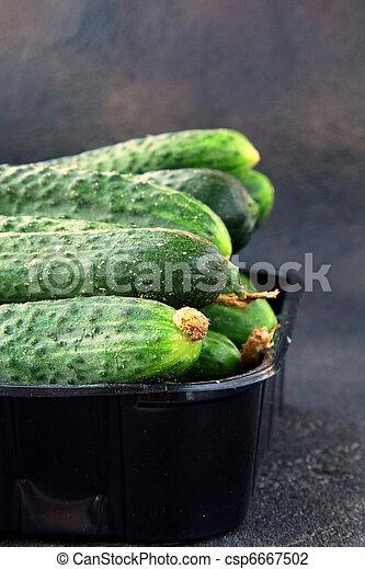 cucumbers in a box  - csp6667502