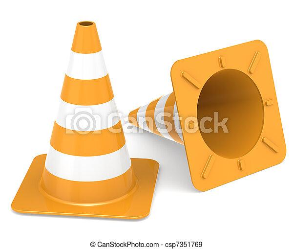 Conos de tráfico - csp7351769