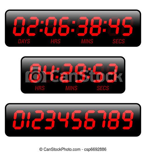 Tiempo de cuenta atrás - csp6692886