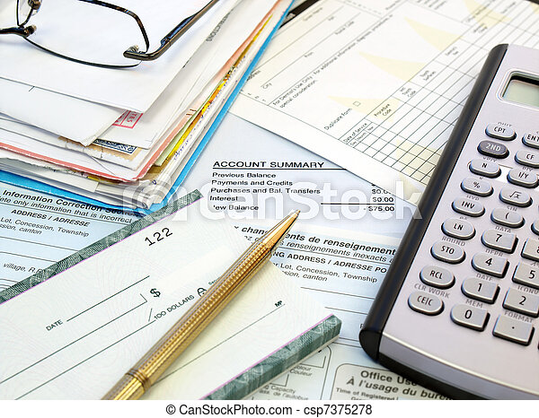 Pagar facturas - csp7375278