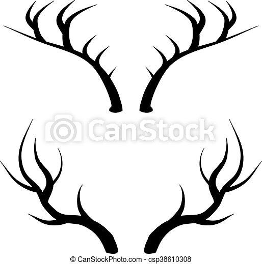Cuernos de ciervo - csp38610308