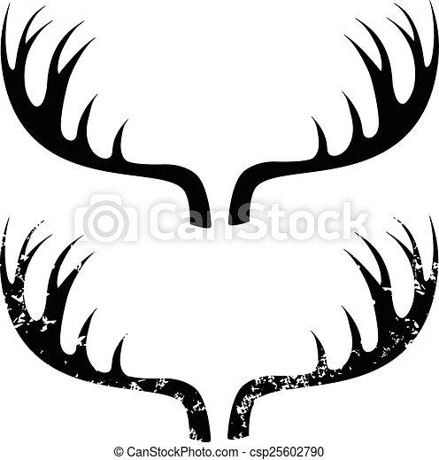 Cuernos de ciervo - csp25602790