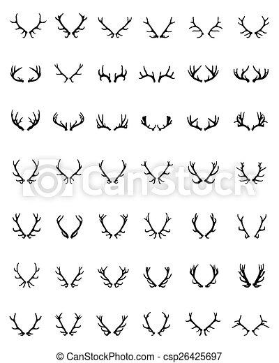 Cuernos de ciervo - csp26425697