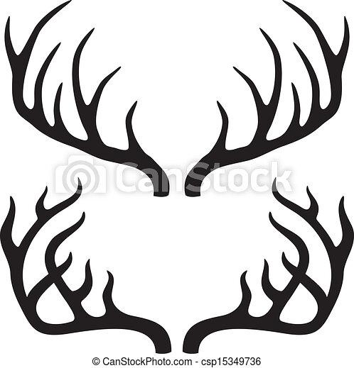Cuernos de ciervo - csp15349736