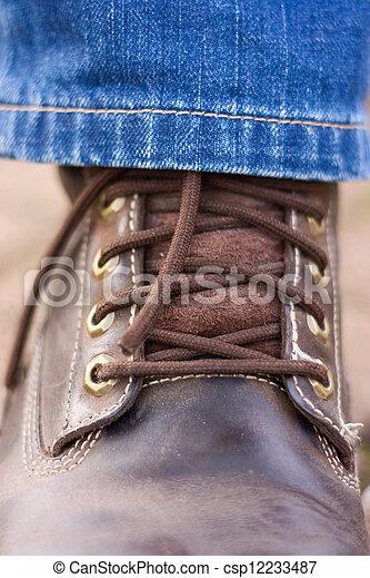 Botas de cuero. - csp12233487