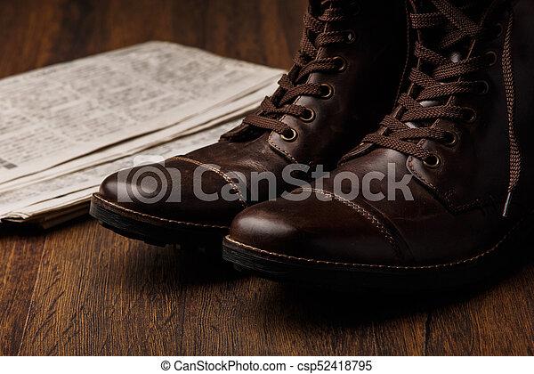 Botas de cuero - csp52418795