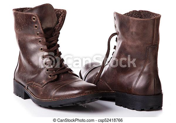 Botas de cuero - csp52418766