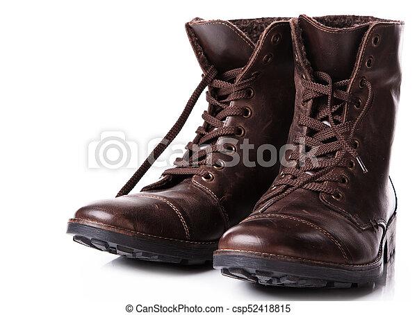 Botas de cuero - csp52418815