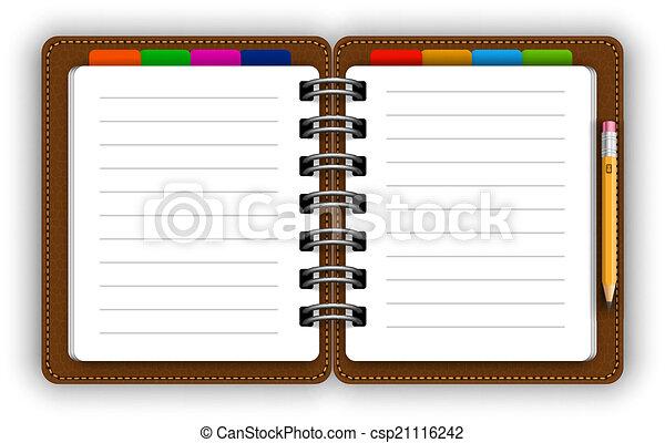 Cuaderno de cuero - csp21116242