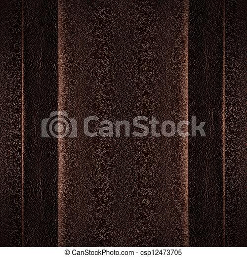 Trasfondo de cuero marrón - csp12473705