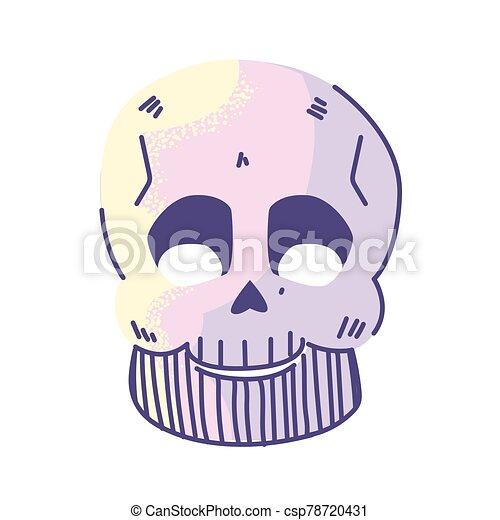cuerpo, huesos, parte, blanco, cráneo, plano de fondo - csp78720431