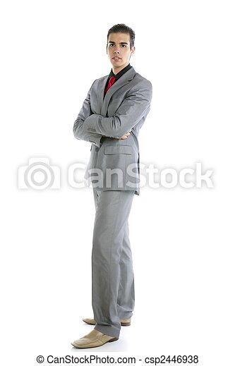 Un joven retrato de hombre de negocios - csp2446938