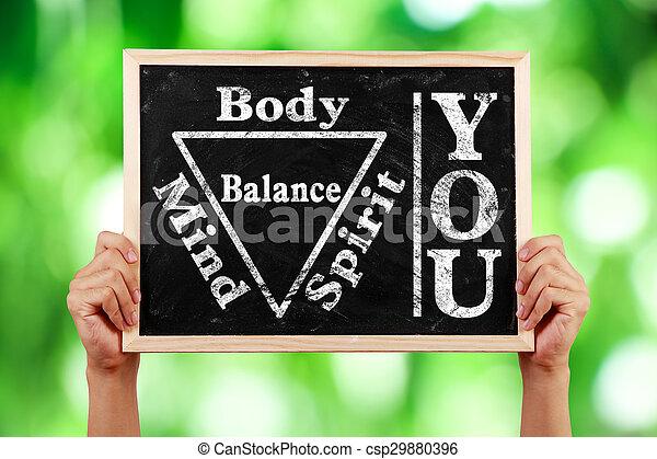 Tu alma espiritual cuerpo equilibrada - csp29880396