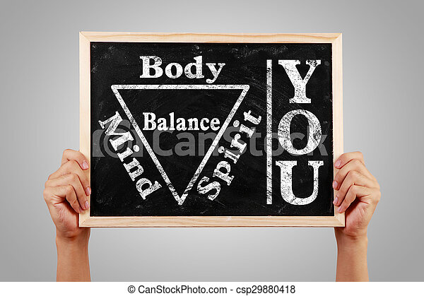 Tu alma espiritual cuerpo equilibrada - csp29880418