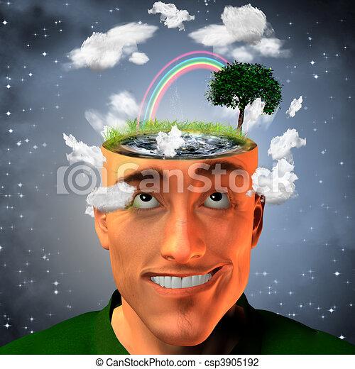Cuerpo de mente - csp3905192