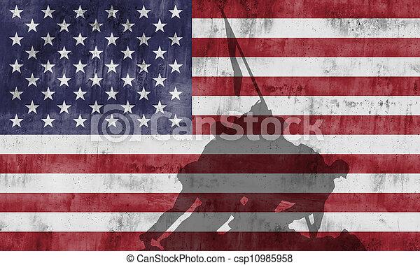 Cuerpo de Marines conmemorando la guerra - csp10985958