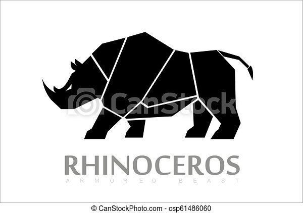 Rino, bestia, un rinoceronte de cuerpo completo - csp61486060