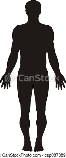 cuerpo, silueta, humano - csp0873894