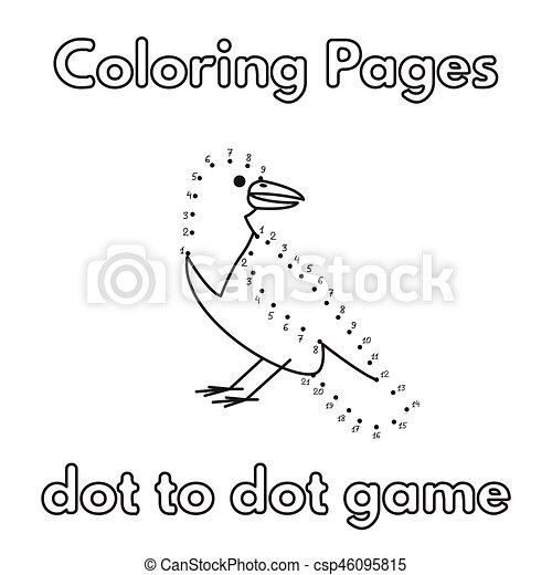 Un Libro De Colorear Cuervos Canto De Cartón A Punto De