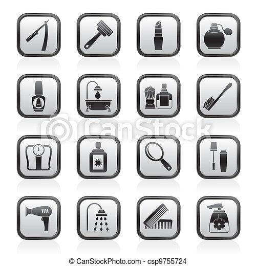 El cuidado del cuerpo y los iconos de los cosméticos - csp9755724