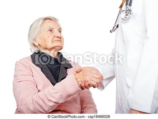 cuidado idoso - csp18466026