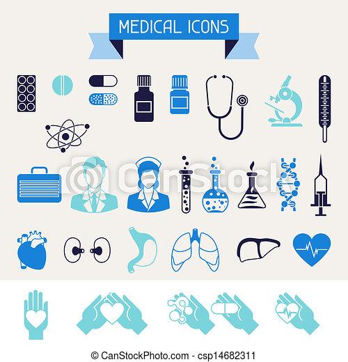 cuidado médico, saúde, set., ícones - csp14682311